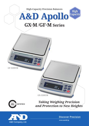 A&D Apollo GX-M/GF-M series of high-capacity precision balances