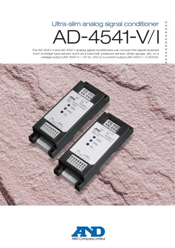 AD-4541-V/I Ultra-slim analog signal conditioners