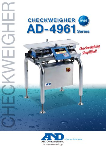 In-motion checkweigher AD-4961 Series