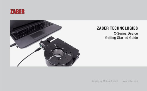 Zaber's Getting Started Guide - Version 2.3