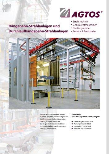 Hängebahn-Strahlanlagen und Durchlaufhängebahn-Strahlanlagen
