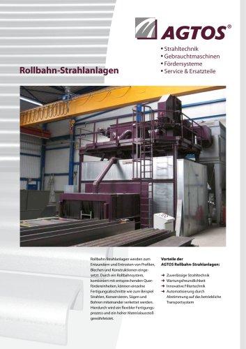 Rollbahn-Strahlanlage