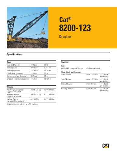 Cat® 8200-123 Dragline