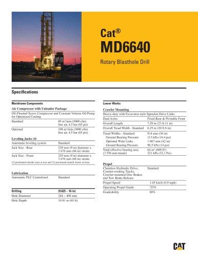 Cat® Rotary drills MD6640