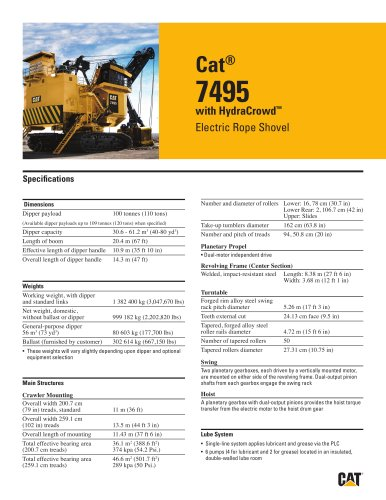 Electric Rope Shovels 7495