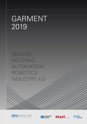 PFAFF Industrial General Catalog Garment 2019