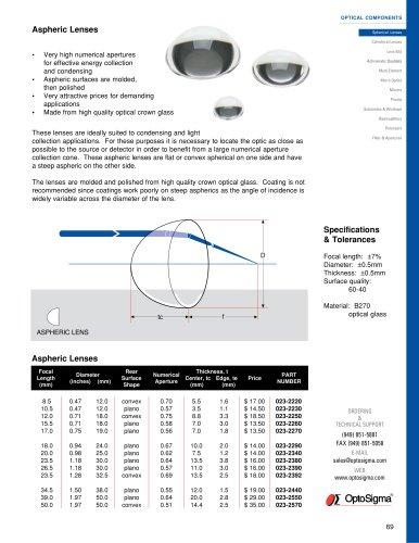 Aspheric Lenses / Aspheric Lens / 023-2220