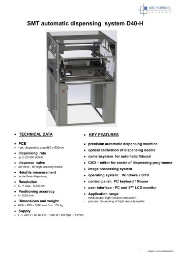 SMT automatic dispensing system D40-H