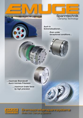 EMUGE Brake Disc Clamping Systems