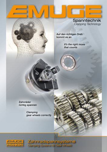 EMUGE Clamping Systems for Gear Wheels