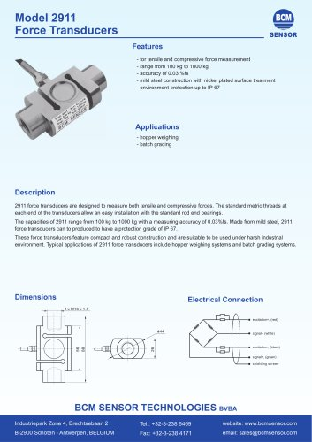 2911 Tensile & Compression Force Transducers
