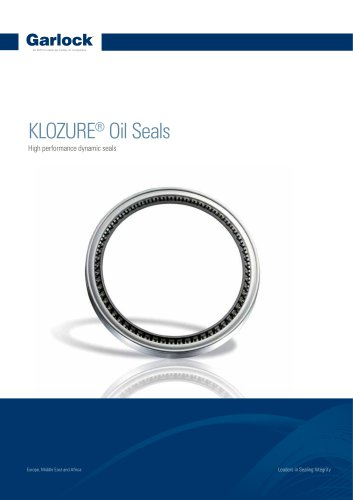 KLOZURE® Oil Seals