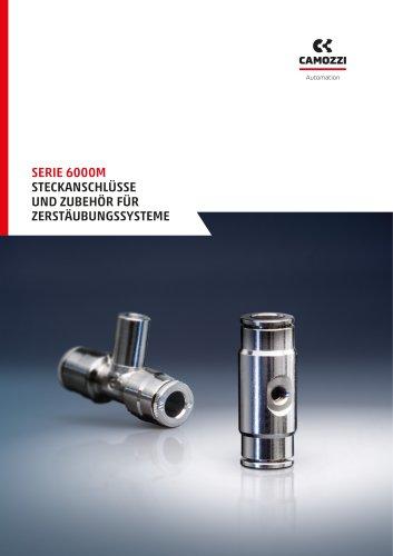 Serie 6000M Steckanschlüsse und Zubehör für Zerstäubungssysteme DE