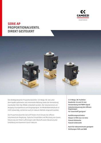 Serie AP - Propotionalventil direkt gesteuert DE