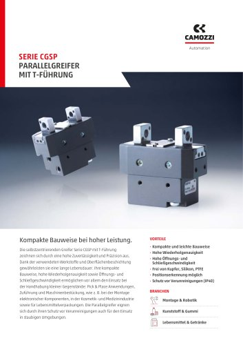 Serie CGSP Parallelgreifer Mit t-führung DE