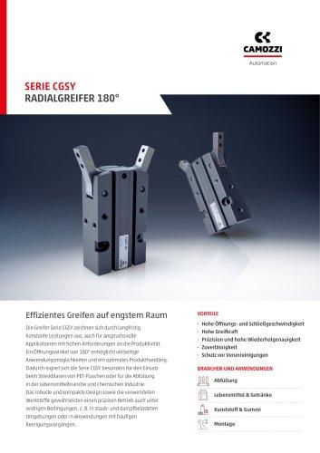 Serie CGSY Radialgreifer 180° DE