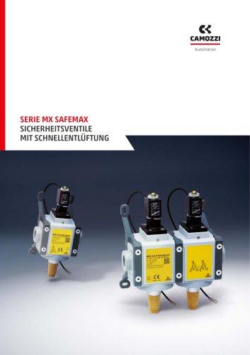 Serie MX SAFEMAX Sicherheitsventile Mit schnellentlüftung DE