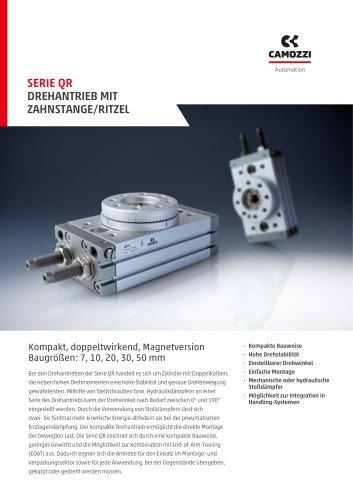 Serie QR Drehantrieb mit Zahnstange/Ritzel DE