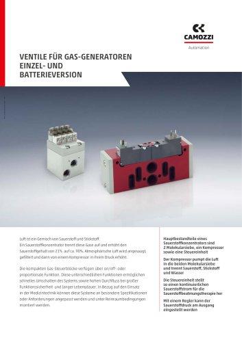 Ventile für Gas-Generatoren DE