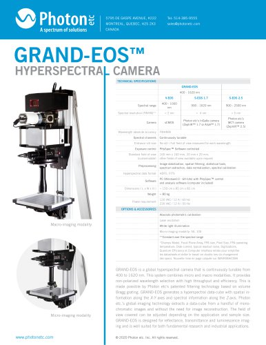 HYPERSPECTRAL CAMERA GRAND-EOS™