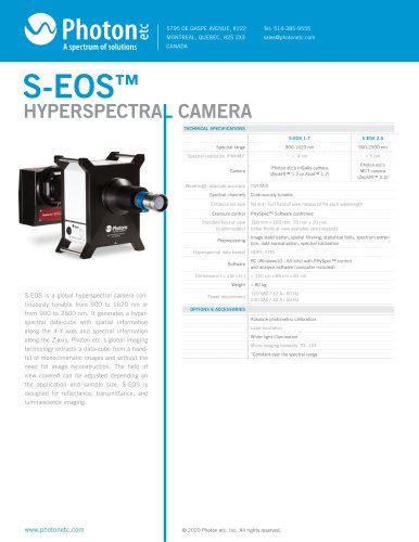 HYPERSPECTRAL CAMERA S-EOS™