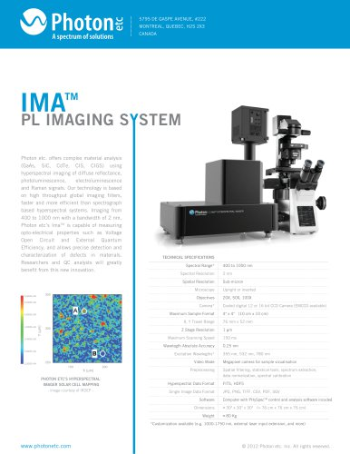 MICROSCOPY HYPERSPECTRAL IMAGER IMA