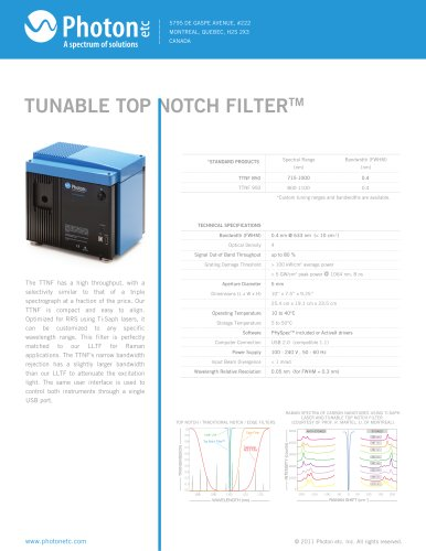 TUNABLE TOP NOTCH FILTER