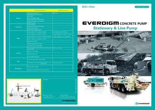 Concrete Pump Stationary & Line Pump Catalogue