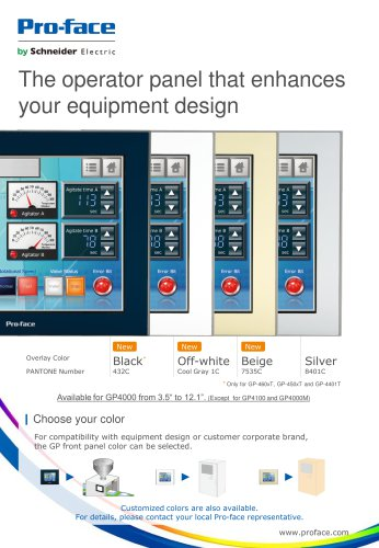 The operator panel that enhances your equipment design