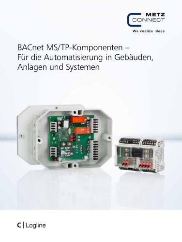 C|Logline - BACnet MS/TP-Komponenten – Für die Automatisierung in Gebäuden, Anlagen und Systemen