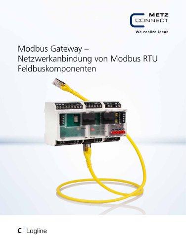 C|Logline - Modbus Gateway – Netzwerkanbindung von Modbus RTU Feldbuskomponenten