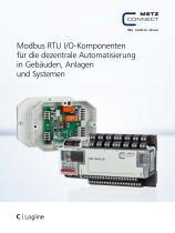 C|Logline - Modbus RTU I/O-Komponenten für die dezentrale Automatisierung in Gebäuden, Anlagen und Systemen - 1
