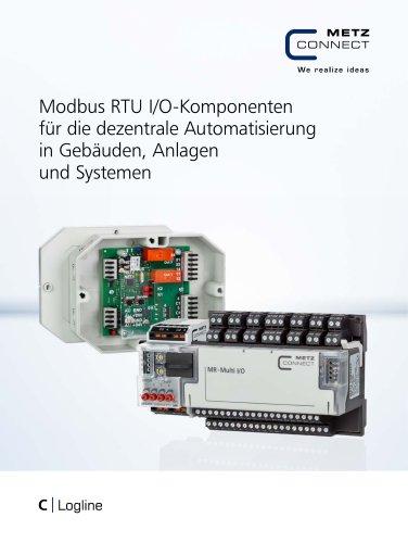 C|Logline - Modbus RTU I/O-Komponenten für die dezentrale Automatisierung in Gebäuden, Anlagen und Systemen