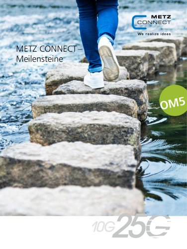 METZ CONNECT – Meilensteine