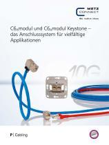 P|Cabling - C6Amodul und C6Amodul Keystone – das Anschlusssystem für vielfältige Applikationen - 1
