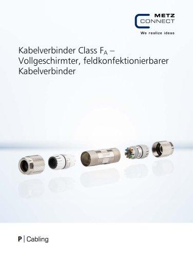P|Cabling - Kabelverbinder Class FA – Vollgeschirmter, feldkonfektionierbarer Kabelverbinder