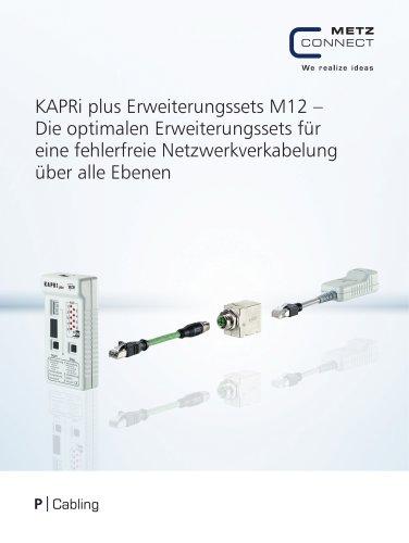 P|Cabling - KAPRi plus Erweiterungssets M12 – Die optimalen Erweiterungssets für eine fehlerfreie Netzwerkverkabelung über alle Ebenen
