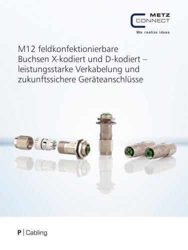 P|Cabling - M12 feldkonfektionierbare Buchsen X-kodiert