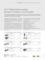 P Cabling - M12 feldkonfektionierbare Buchsen X-kodiert - 2