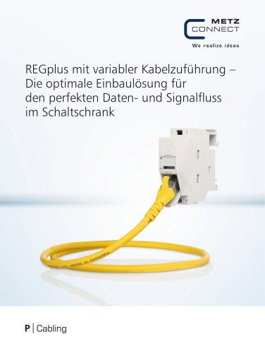 P|Cabling - REGplus mit variabler Kabelzuführung – Die optimale Einbaulösung für den perfekten Daten- und Signalfluss im Schaltschrank