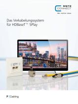 P Cabling - Das Verkabelungssystem für HDBaseT™ 5Play - 1