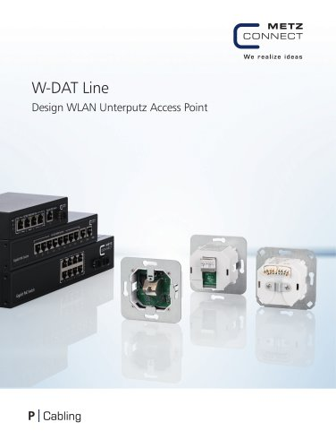 P Cabling - W-DAT Line High-Tech unter Putz – In - Wall Access Point