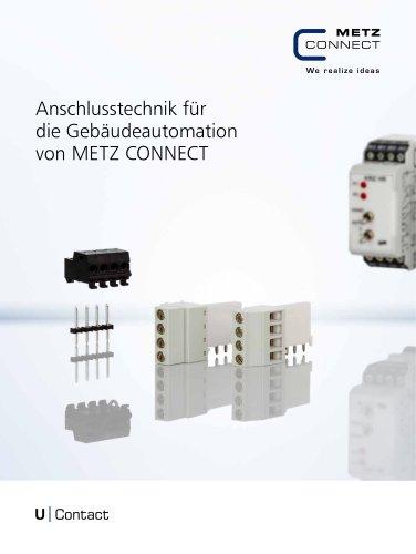 U|Contact - Anschlusstechnik für die Gebäudeautomation von METZ CONNECT