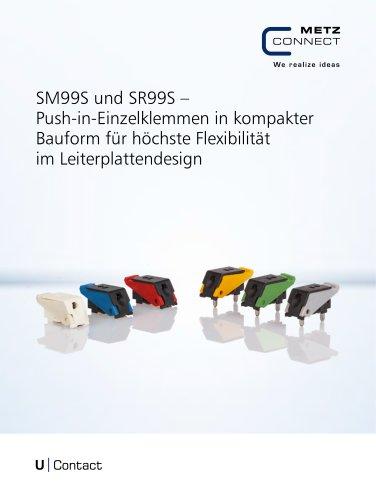U|Contact - SM99 und SR99 – Push-in-Einzelklemmen in kompakter Bauform für höchste Flexibilität im Leiterplattendesign