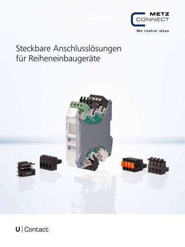 U|Contact - Steckbare Anschlusslösungen für Reiheneinbaugeräte