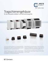 U Contact - Tragschienengehäuse für die Gebäudeinstallation und Reiheneinbaugeräte - 1
