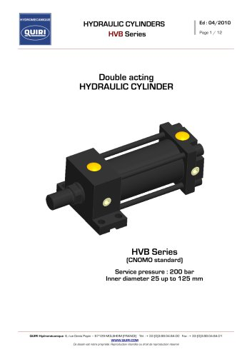 HYDRAULIC ACTUATORS -Double acting -HVB Series