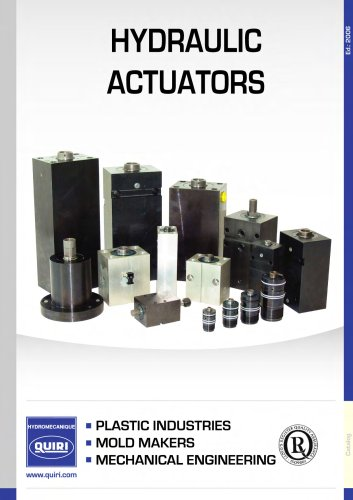 HYDRAULIC ACTUATORS FOR MOULD-MAKERS