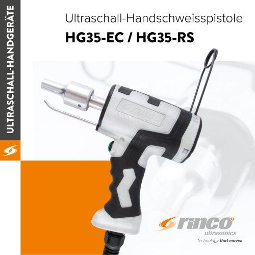 Ultraschall-Handschweissgeräte HG35-EC / HG35-RS