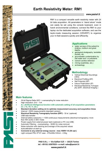 EARTH RESISTIVITY METER RM1